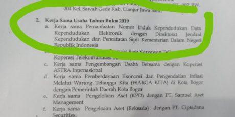 KSP Sejahtera Bersama Bogor melalui Kemendagri Manfaatkan NIK Masyarakat